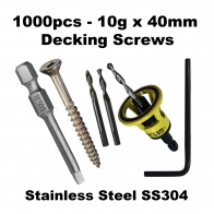 10g x 40mm Stainless Steel SS304 T17 1000pc Bundle